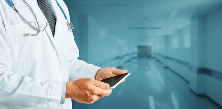 Unrecognizable Doctor Using Digital Tablet, Modern Technology In Medicine And Healthcare Concept 写真素材