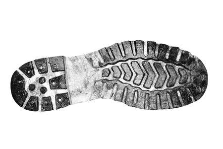 mud print: Bottom of shoes, isolated on white background  Stock Photo