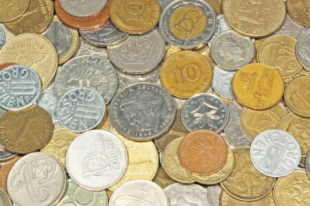 old coins: Old coins usable as background