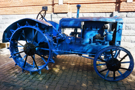 old tractor of the early 20th century Banco de Imagens