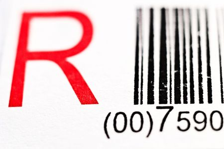 Black And White Bar Code With Numbers(FIGURES AND LINES TO CHANGE)   photo