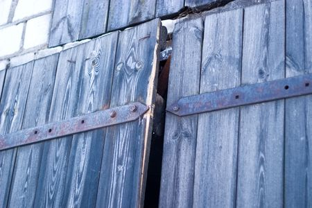 very old antique colored door of the building Stock Photo - 6643283