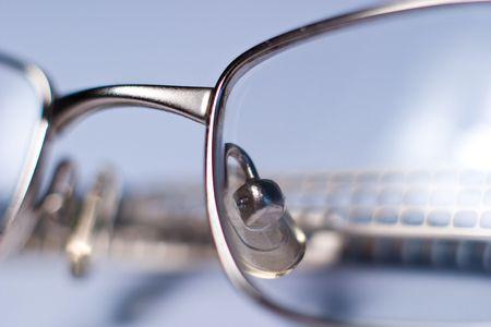 stylish glasses lying on a white background, macro photo Stock Photo - 6643088