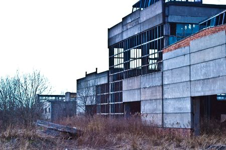 Ruins of a very heavily polluted industrial site, 1890's the place was known as one of the most polluted towns in Europe.  Stock Photo - 6678470
