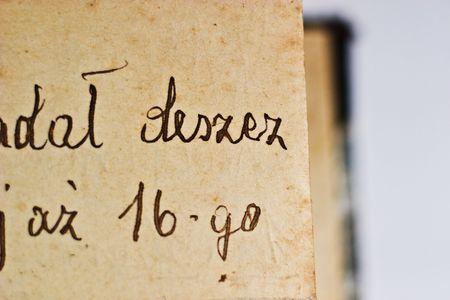 old recipe handwriting detail, vintage letter detail     photo