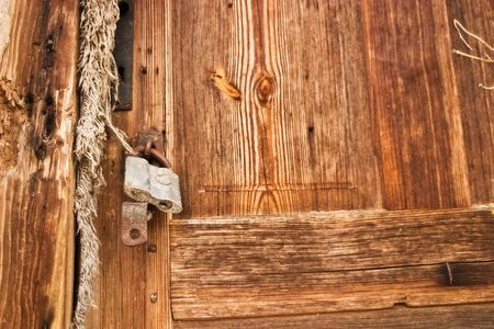 very old antique colored door of the building Stock Photo - 6723495