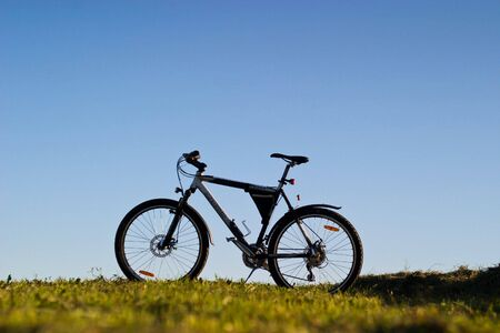 color bike, small parts of bike in sunny day, bike series Stock Photo - 7345161