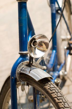 color bike, small parts of bike in sunny day, bike series Stock Photo - 7515461