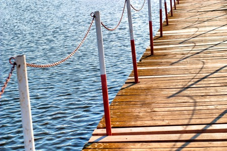 bridge on the blue river,  construction, environmental engineering