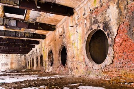 Ruinen einer sehr stark verschmutzten Industriegeländes, 1890, die der Ort als eine der am stärksten verschmutzte Städte in Europa bekannt war.
