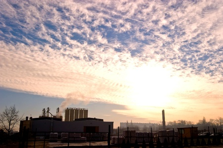 heavily: Ruins of a very heavily polluted industrial site Stock Photo