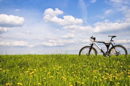 Farbe Bike, kleine Teile des Bike in sonnigen Tag, Bike-Serie Standard-Bild - 9567437