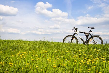 color bike, small parts of bike in sunny day, bike series Stock Photo - 9724303
