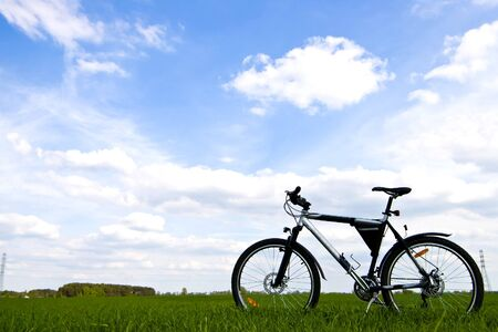 color bike, small parts of bike in sunny day, bike series Stock Photo - 9873038