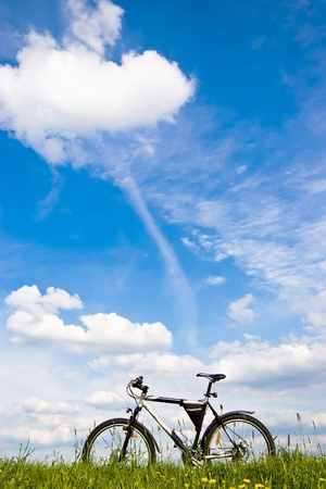 color bike, small parts of bike in sunny day, bike series Stock Photo - 9873051