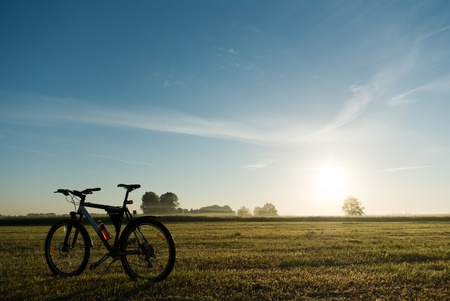 Farbe Fahrrad, Fahrrad-Serie, Teile von Fahrrad im sonnigen Tag