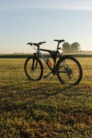 color bike, bike series, parts of bike in sunny day photo
