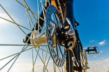 Farbe Fahrrad im sonnigen Tag, Fahrrad-Serie, Standard-Bild