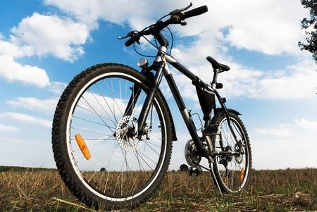 fiets: kleur fiets in zonnige dag, fiets-serie,