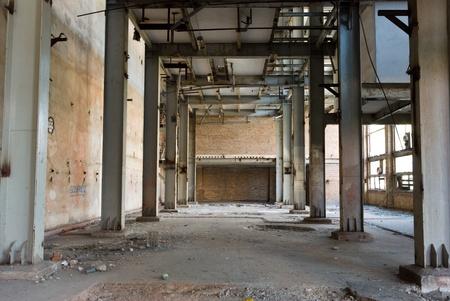 Ruinen von einem sehr stark verschmutzten industriellen Fabrik wurde der Ort als einer der am stärksten verschmutzten Ort in Europa bekannt. Standard-Bild
