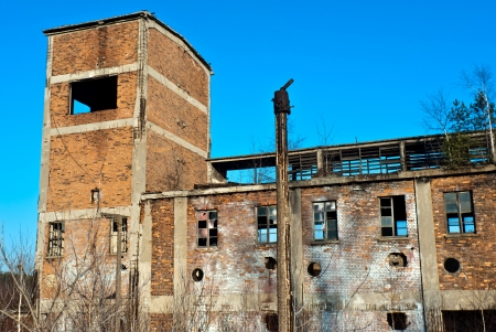 Ruins of a very heavily polluted industrial factory, the place was known as one of the most polluted place in Europe. Editorial