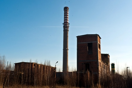 Ruins of a very heavily polluted industrial factory, the place was known as one of the most polluted place in Europe. photo