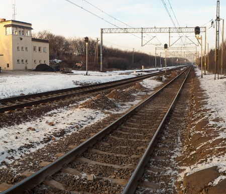 view of the railway track on a sunny day Stock Photo - 12279412