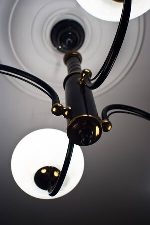 shot of a modern lamp, lamp for night reading and working photo
