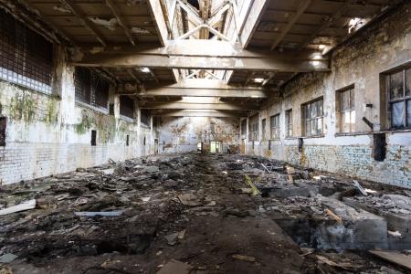 Ruinen einer sehr stark verschmutzten industriellen Fabrik, Platz wurde als einer der am stärksten verschmutzten Städte in Europa bekannt Standard-Bild