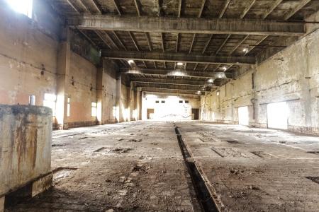 Ruinen einer sehr stark verschmutzten industrielle Fabrik, Ort wurde als einer der am stärksten verschmutzten Städte in Europa bekannt Editorial
