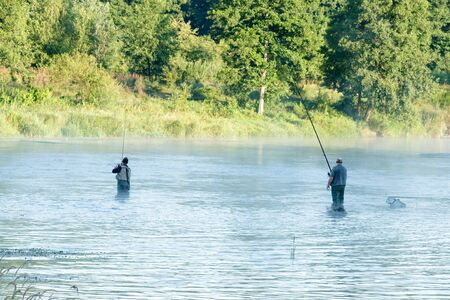 fishing, fishing in a lake, nature series  photo