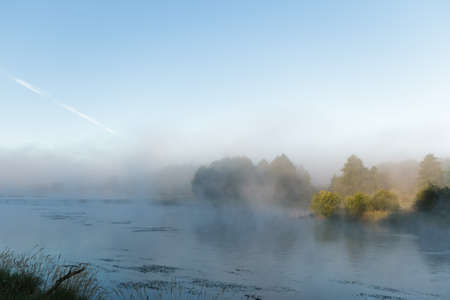 morning fog over a lake, nature series Stock Photo - 14916798
