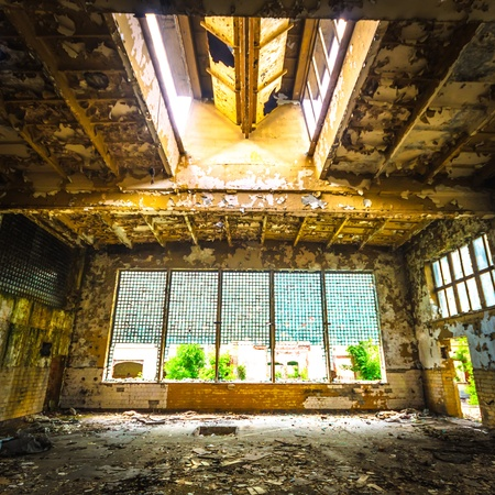 ruins of a very heavily polluted industrial factory, place was known as one of the most polluted towns in Europe Stock Photo - 16679900