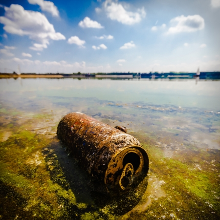garbage polluting the natural environment, pollution, nature series Stock Photo - 16844837