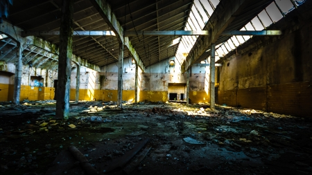 ruins of a very heavily polluted industrial factory, place was known as one of the most polluted towns in Europe Stock Photo - 16844860