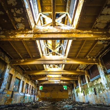 Ruinen einer sehr stark verschmutzten industrielle Fabrik, Ort wurde als einer der am stärksten verschmutzten Städte in Europa bekannt Standard-Bild