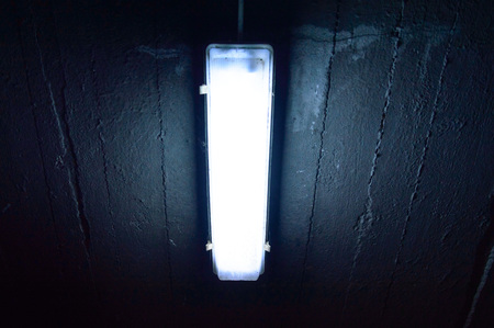 shot of a garage lamp, lamp for night reading and working Stock Photo - 22296758
