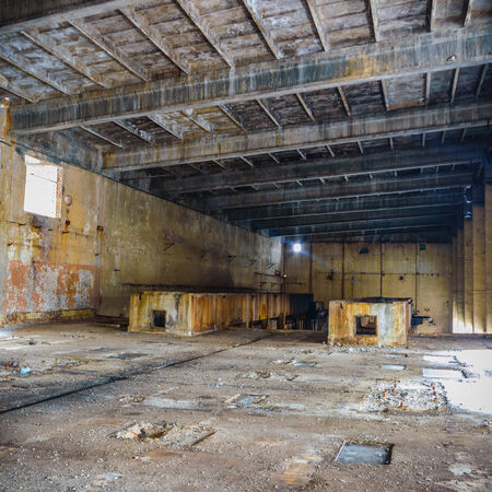 abandoned factory: abandoned factory building Stock Photo
