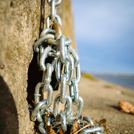 weakest: chains are only as strong as their weakest link, design series Stock Photo