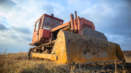 heavy duty: digger, old heavy duty construction equipment, industrial series