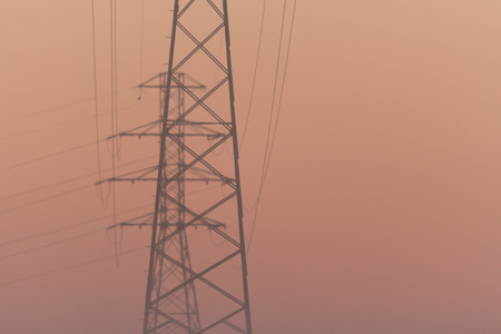 power line transmission: power line transmission, industrial sereis Stock Photo