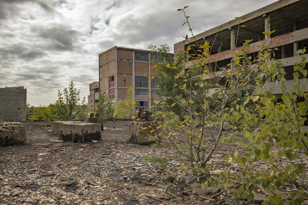 abandon: ruins of a very heavily polluted industrial factory, industrial series
