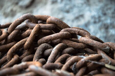 chains are only as strong as their weakest link, design series Stock Photo