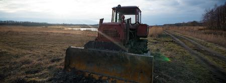 sand quarry: big heavy duty construction equipment, industrial series Stock Photo