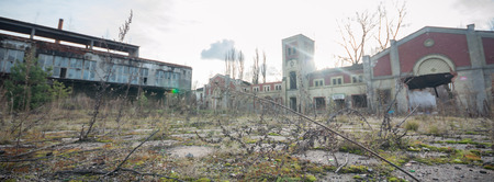 warehouse: ruins of a very heavily polluted industrial factory, industrial series