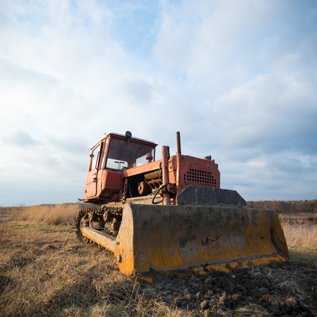 big heavy duty construction equipment, industrial series Stock Photo