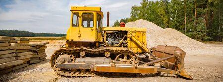 big heavy duty construction equipment, industrial series Imagens