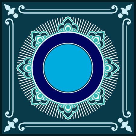 rococo style: Vector vintage border frame logo engraving with retro ornament pattern in antique rococo style decorative design