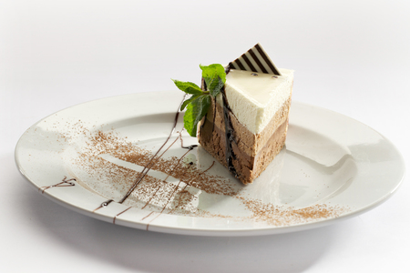 custard slice: three chocolate cake