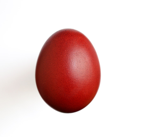 Red Egg on the white background